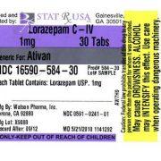 lorazepam pill label